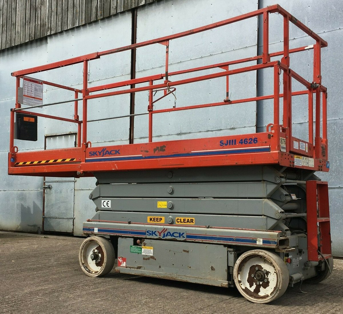 Image of Skyjack SJ4626 Electric Scissor Lift Access Platform with New Batteries